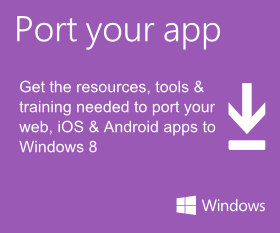 Port your app to Windows 8 & Windows Phone